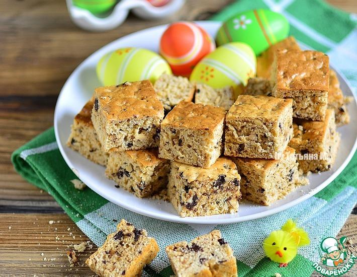 Рецепт: Разрезное печенье с шоколадом и орехами