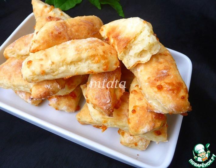 Рецепт: Творожно-сырные полоски