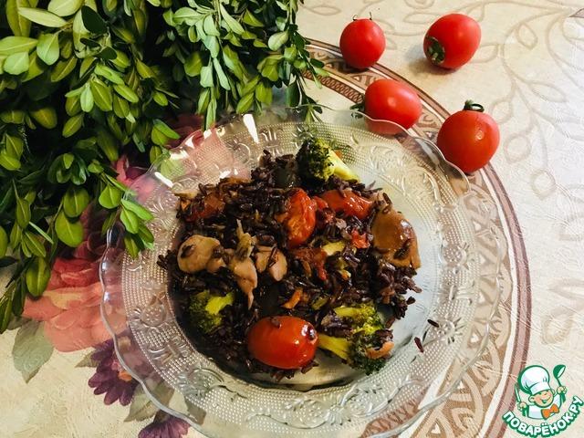 Дикий рис с овощами photo