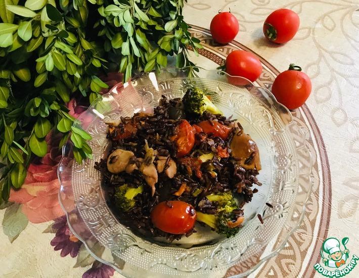 Рецепт: Дикий рис с овощами
