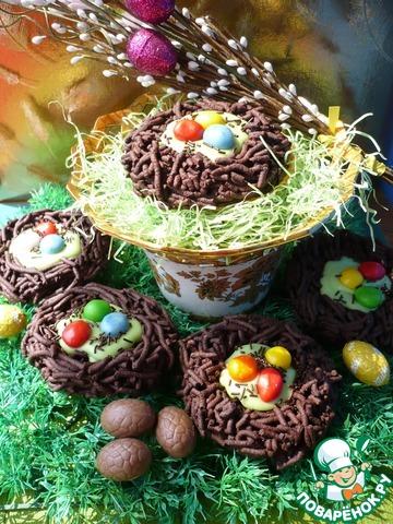 Пасхальное шоколадное печенье