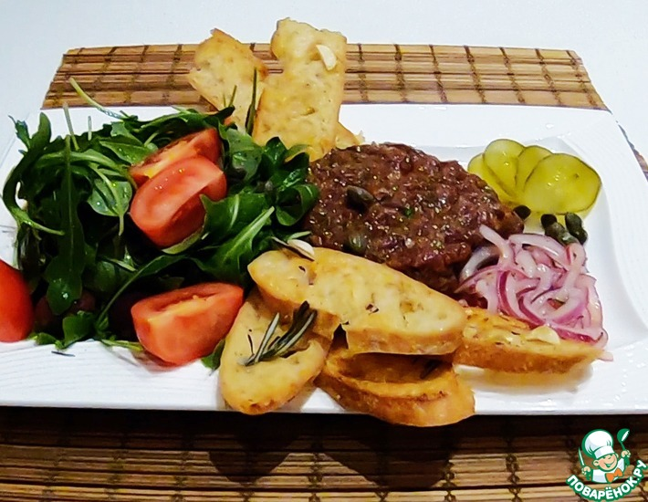 Рецепт: Тартар из говядины