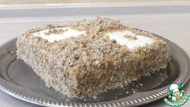 Торт без выпечки с яблочным кремом photo