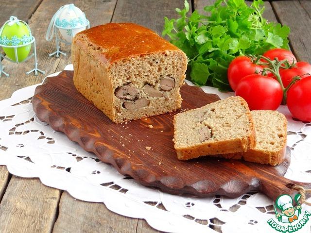 Ржано-пшеничный хлеб с печенью photo