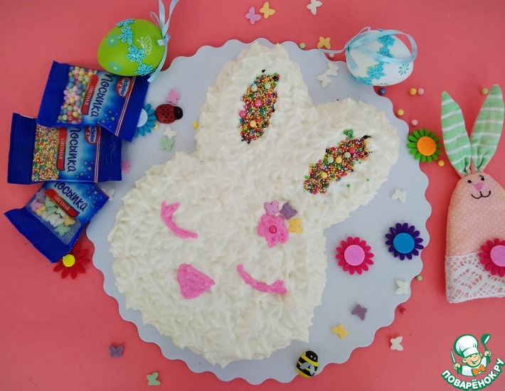 Рецепт: Торт Пасхальный кролик