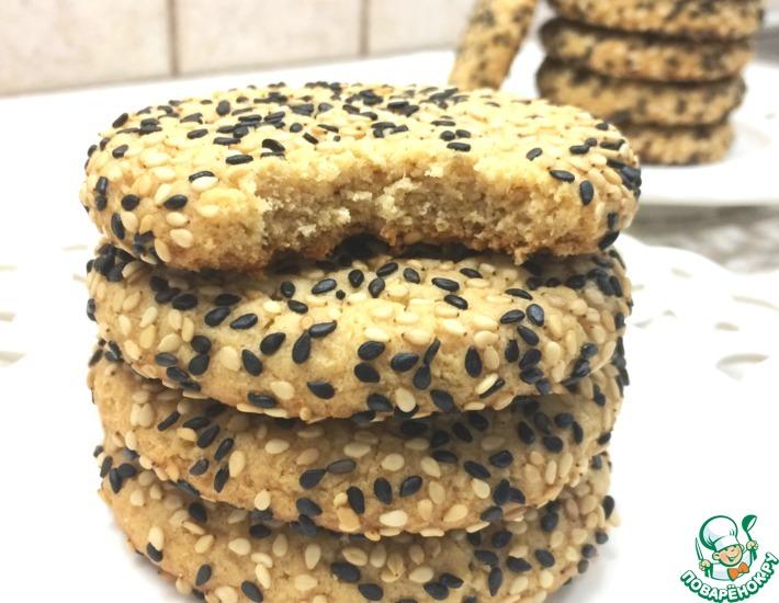 Рецепт: Рассыпчатое печенье из кунжутной пасты тахини