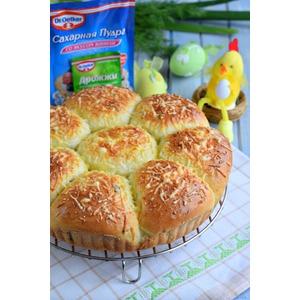 Пирог разборный с зеленью и кукурузой