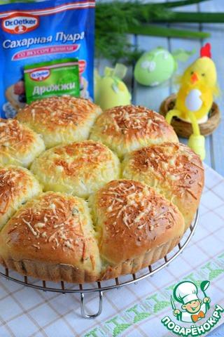 Пирог разборный с зеленью и кукурузой photo