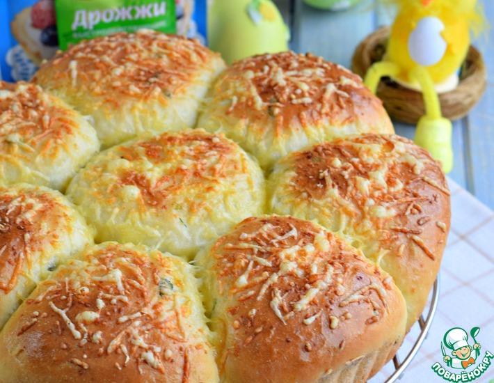 Рецепт: Пирог разборный с зеленью и кукурузой
