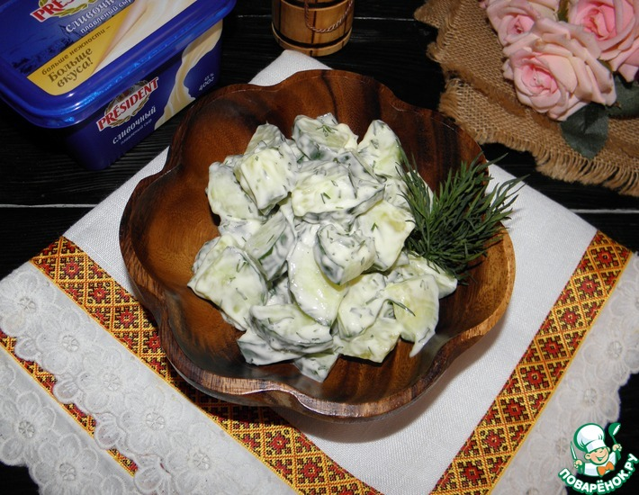 Рецепт: Салат из огурцов Ежедневный