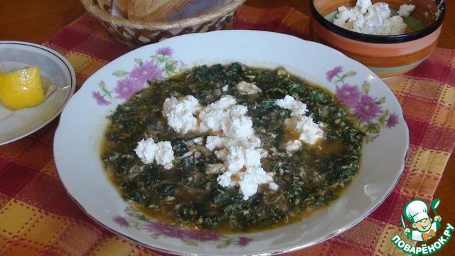 Весенний витаминный суп с крапивой photo