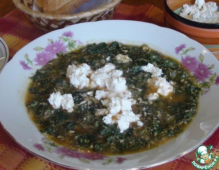Рецепт: Весенний витаминный суп с крапивой