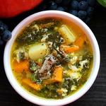 Суп с щавелем и тыквой
