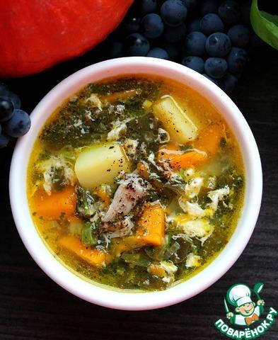 Суп с щавелем и тыквой photo