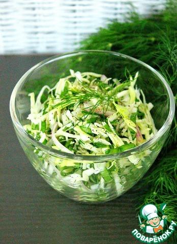 Салат из капусты и щавеля photo