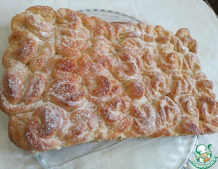 Рецепт: Отрывной творожный пирог Фантастика