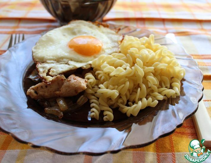 Рецепт: Курица с яйцом
