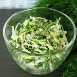 Салат из капусты и щавеля