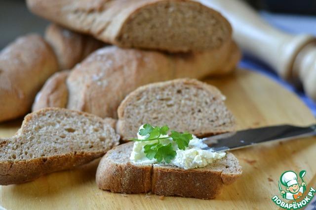 Мини багеты со сливочным сыром photo