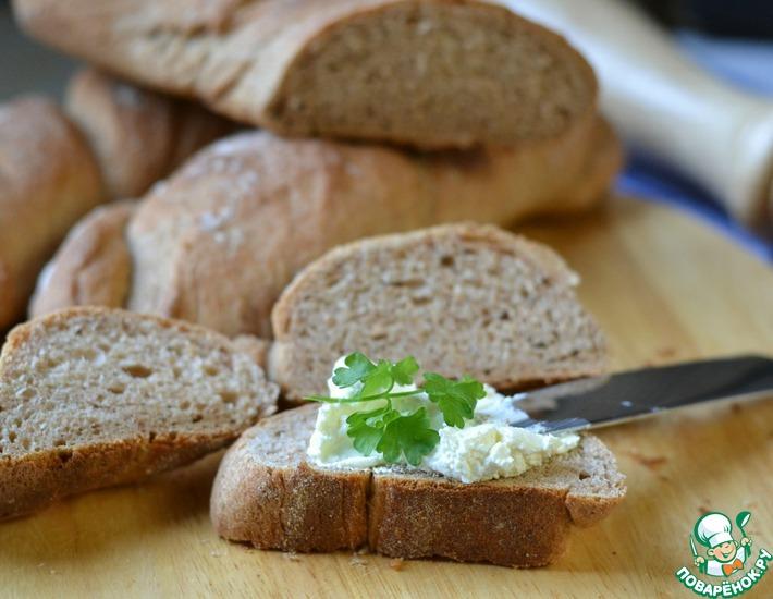 Рецепт: Мини-багеты со сливочным сыром