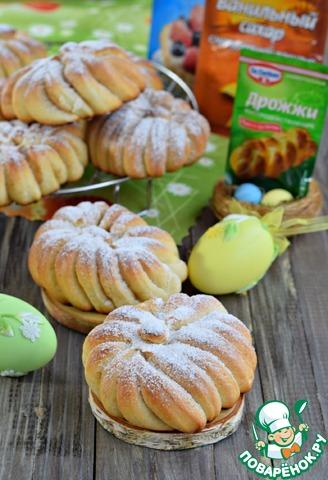 Сдобные булочки с сахаром и корицей photo