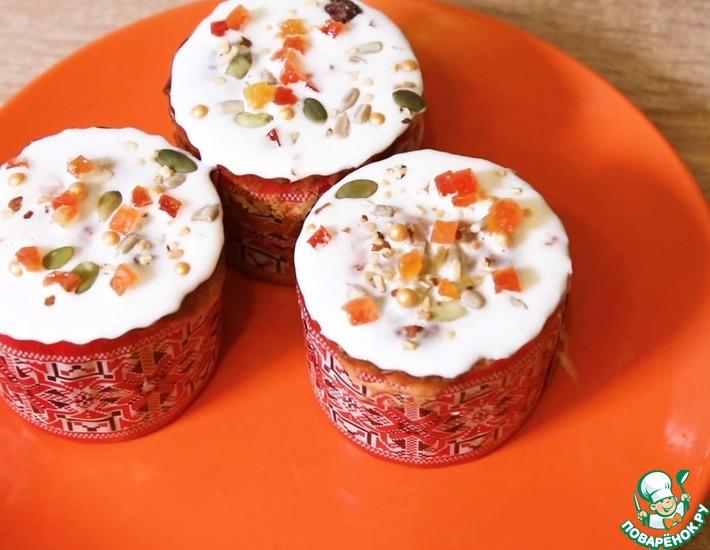 Рецепт: Пористый кулич и глазурь без яиц