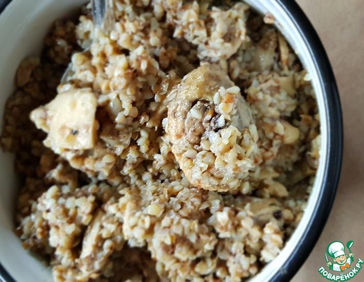 Рецепт: Гречка со степными грибами