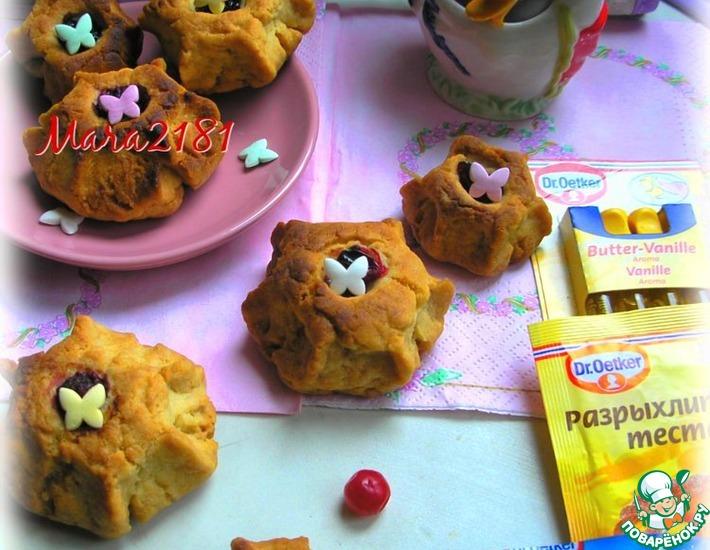 Рецепт: Печенье Цветочки-ягодки
