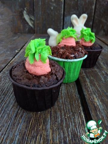 Шоколадные капкейки на Пасху photo
