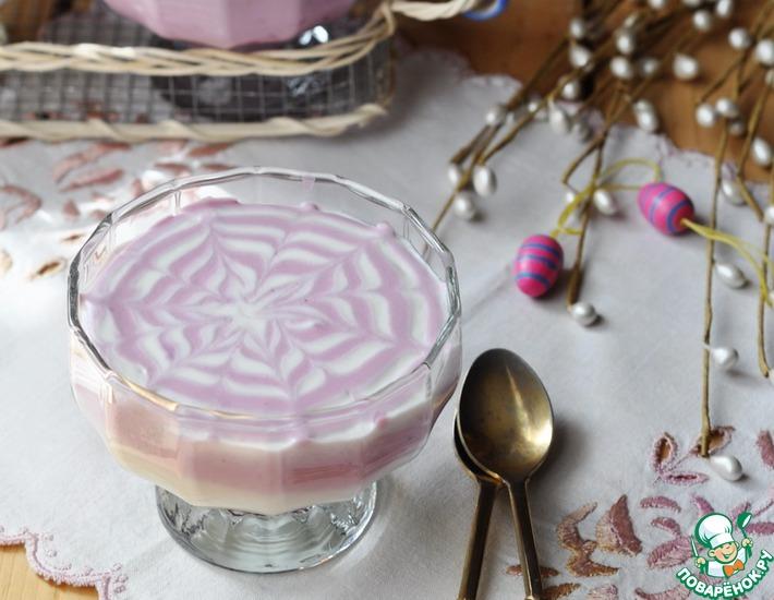 Рецепт: Творожный десерт Ягодное вдохновение