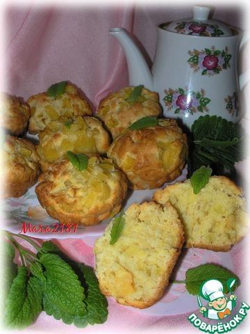 Ананасово-яблочные кексы photo