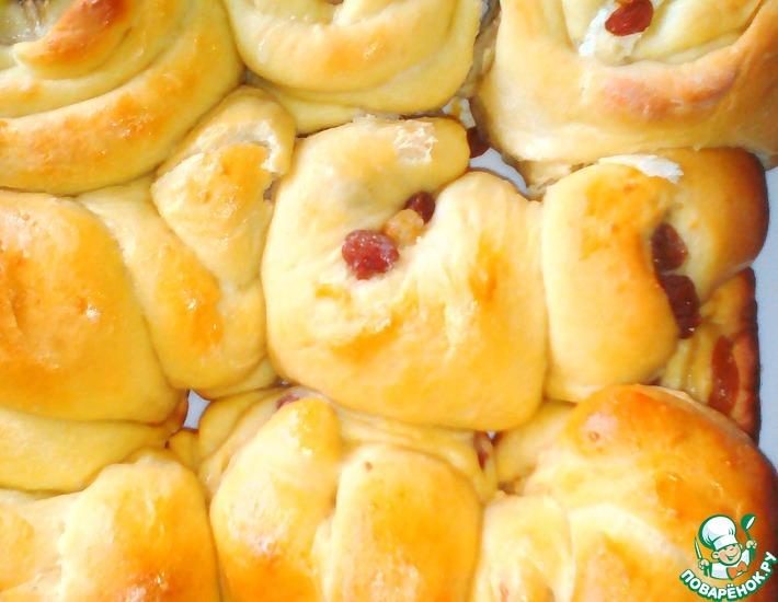 Рецепт: Дрожжевые булочки