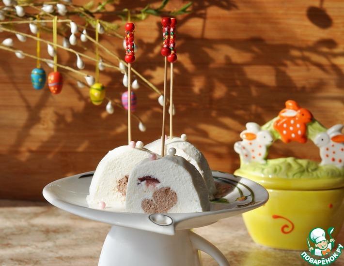 Рецепт: Творожный десерт Клюква с шоколадом