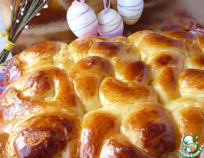 Рецепт: Фигурные пасхальные дрожжевые булочки
