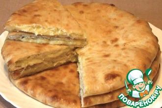 Рецепт: Осетинские пироги с картофелем и сыром