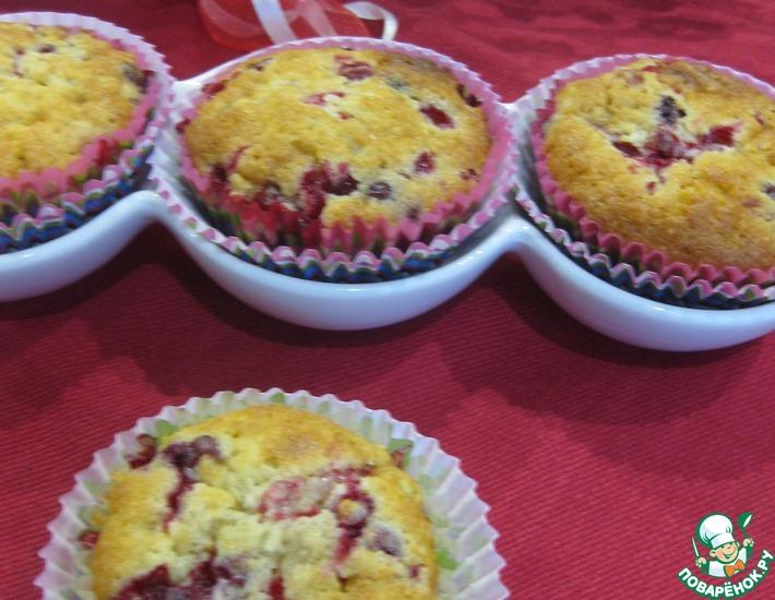 Рецепт: Кексы ягодно-кокосовые Фейерверк вкуса