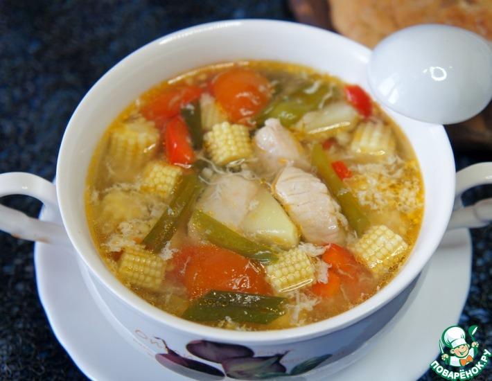 Рецепт: Куриный суп в китайском стиле