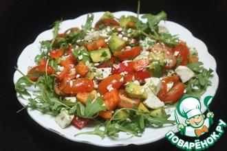 Рецепт: Овощной салат с соусом Наршараб
