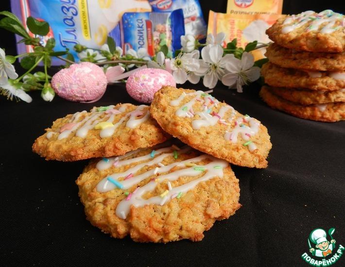 Рецепт: Морковно-овсяное печенье