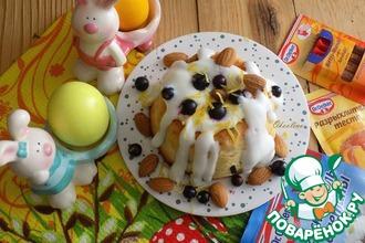 Рецепт: Миндальный кекс Праздничный