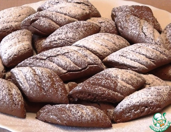Рецепт: Печенье Шоколадно-кофейные параллелограммчики