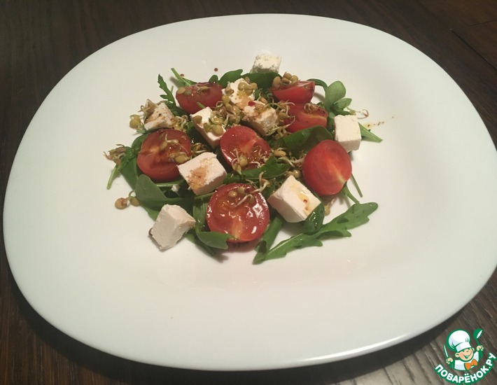Рецепт: Салат с сыром фета и чечевицей