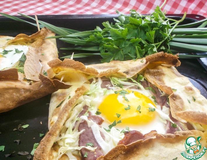 Рецепт: Французская блинная галета на завтрак