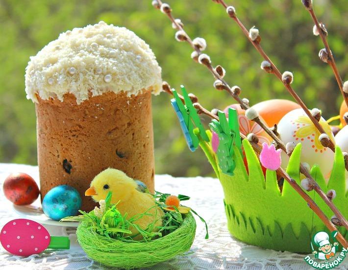 Рецепт: Кекс кокосовый Пасхальный