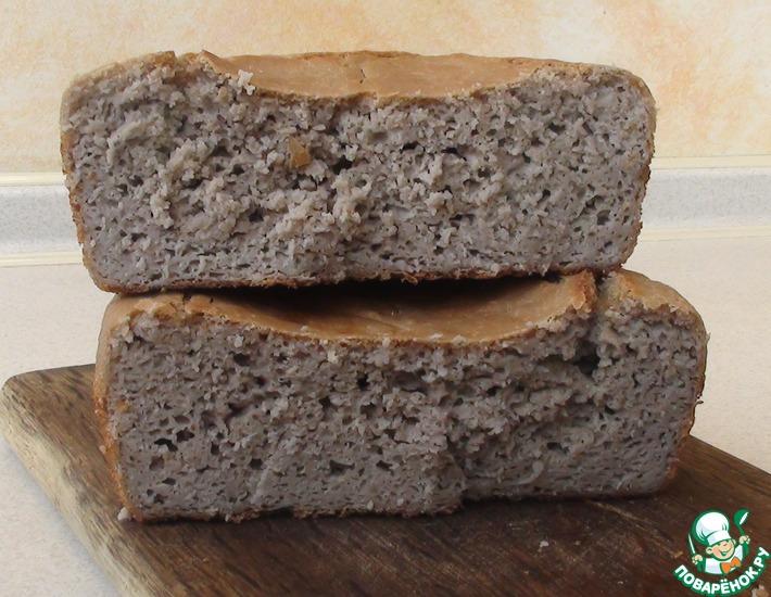 Рецепт: Хлеб из муки зеленой гречки