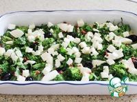 Запеканка с брокколи, маслинами и моцареллой ингредиенты
