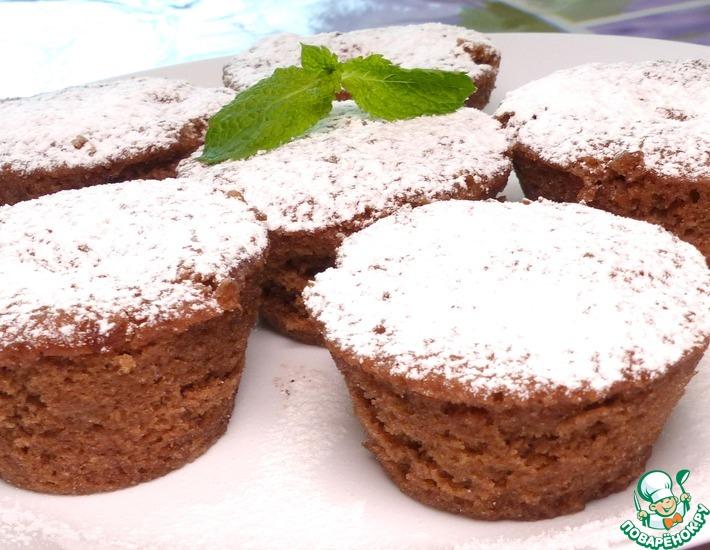 Рецепт: Шоколадные кексы в микроволновке