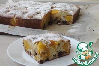 Рецепт: Пирог с персиками и шоколадом