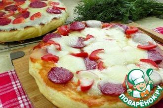 Рецепт: Улётная пицца на сковороде