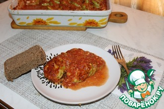 Рецепт: Запеченные кабачки с томатно-сырным соусом